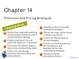 Promotional Strategies Promotion And Pricing Strategies Intro To Business