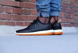 men nike roshe two leather prm black black white gum med brown shoes larger image
