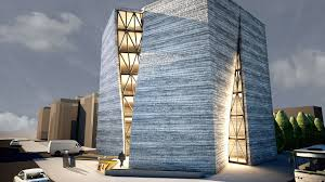 Modern Iranian Architecture Building Wallpaper Wallpaper