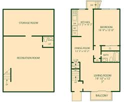 bedroom basement apartment floor plans and one