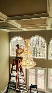 high ceiling chandelier install chandelier designs with regard to install a chandelier