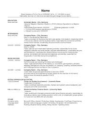 Resume Template Usa Simple Resume Template