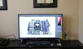vizio tv monitor. vizio m43-c1 on desk vizio tv monitor i