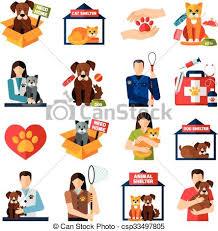 animal shelter clipart. Modren Shelter Animal Shelter Icons Set  Csp33497805 To Shelter Clipart U
