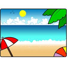 how to draw a cartoon beach