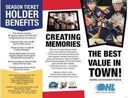 Ticket Information Barrie Colts