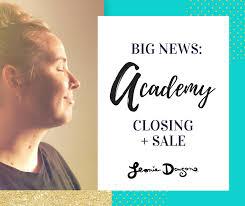 Big Announcement Academy Closing Down Sale Leonie Dawson