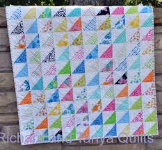 Half Square Triangle Crib Quilt Pattern for 40 by 40 inch baby & Half Square Triangle Crib Quilt Pattern for 40 by 40 inch baby quilt Adamdwight.com