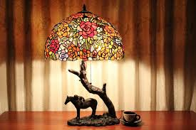 amazing stained glass table lamps eflyg beds making for floor lamp shades ideas 17