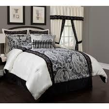 bathroom black cream paisley madison park comforter sets