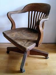 desk chairs old wooden office chair vintage oak school wood restoration hardware fashioned wheels art swivel
