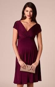 Alessandra Maternity Dress Short Berry Maternity Wedding Dresses