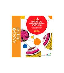 Matemáticas Orientadas A Las Enseñanzas Académicas 4. ESO. Anaya + Digital