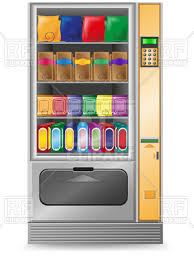 Vending Machine Front Graphics Simple Snack Vending Machine Front View Vector Image Vector Artwork Of