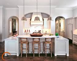 Pendant Lights Over Island Kitchen Traditional With Archways Baseboards  Breakfast Bar