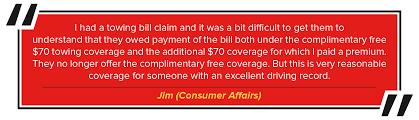 i had a towing bill claim and it was a bit difficult to get them to understand that they owed payment of the bill both under the complimentary free 70