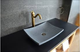 40 Granite Stone Bathroom Vessel Sink Design TAHITI Fascinating The Bathroom Sink Design
