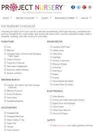 baby room checklist. Exellent Checklist Nursery Checklists Intended Baby Room Checklist Y