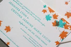 orange and turquoise wedding invitations. autumn wedding invitations orange and turquoise