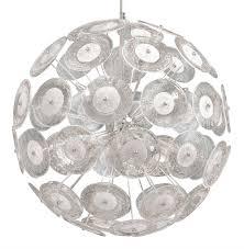 modern dandelion glass ball 6 light pendant ball chandelier kathy kuo home