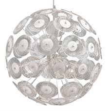 modern dandelion glass ball 6 light pendant ball chandelier kathy kuo home