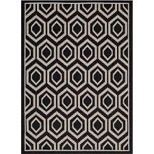 safavieh courtyard black indoor outdoor rug 5 3 x 7 7