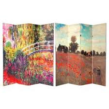Oriental furniture perth Taihan Co Monet Fine Art Double Sided Room Divider Japanese Bridge And Poppy Field In Argenteu Oriental Ewobusaorg Room Dividers Target