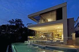 infinity pool beach house. Infinity Pool House Modern Residence Bordered By An Beach