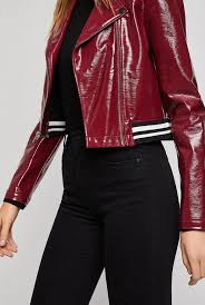 bcbgeneration multicolor faux patent leather moto jacket lyst view fullscreen