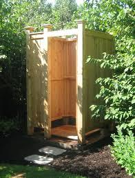 freestanding cedar outdoor showers com in out door shower designs 2