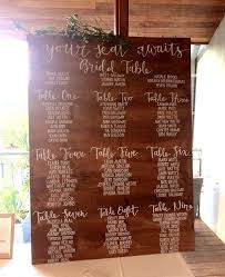 The Sinclair Seating Chart Wooden Wedding Seating Chart Seating Plan In 2019