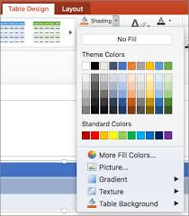 Add Or Change The Fill Color Of A Table Cell Powerpoint