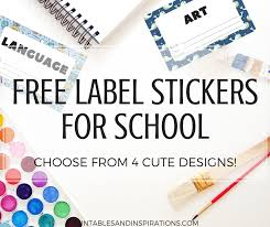 Name Templates Printable Free Cute Label Stickers For School With Blank Templates