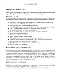 Hvac Resume Template Simple Hvac Resume Template Best And Refrigeration Example LiveCareer 48