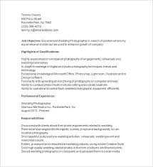Wedding Photographer Resume Download