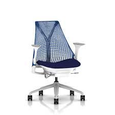 herman miller sayl chair (berry blue fog base and studio white