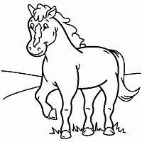 Kleurplaten Dieren Paarden