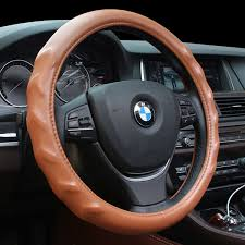 massage texture leather steering wheel cover for 15 inches wheel size car