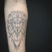 Animal Tattoos Lion Tattoo Ideas Geometric On Forearm Just