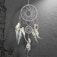 Double Dream Catchers Dreamcatcher Gift Checking Dream Catcher Net With Double Rings 99