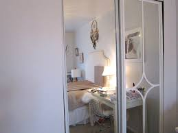 How To Cover Mirrored Closet Doors Mirrored Closet Door Makeover