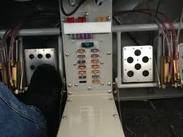 van s aircraft overthehills sitting in the rv 14 there is this small fuse panel down in the