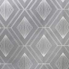 Glitter Diamond Charcoal Wallpaper