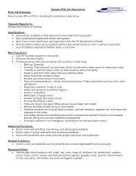 job descriptions for resumes
