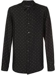 amiri dot print shirt black white men clothing shirts amiri kirkham leather jacket black