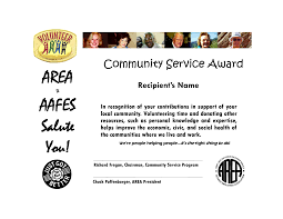 Brilliant Ideas Of Community Service Award Template For Home For