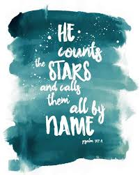 Bible Verse Art Printable Psalm 40040 He Counts The Stars And Calls Interesting Verses