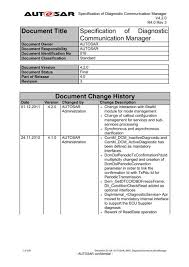Specification Of Diagnostic Communication Manager Autosar