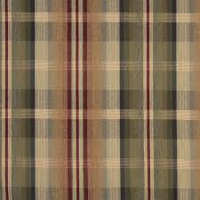 tan beige and burdy plaid chenille upholstery fabric