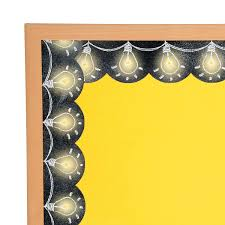 Be The Light Bulletin Board Amazon Com Fun Express Light Bulb Chalkboard Borders